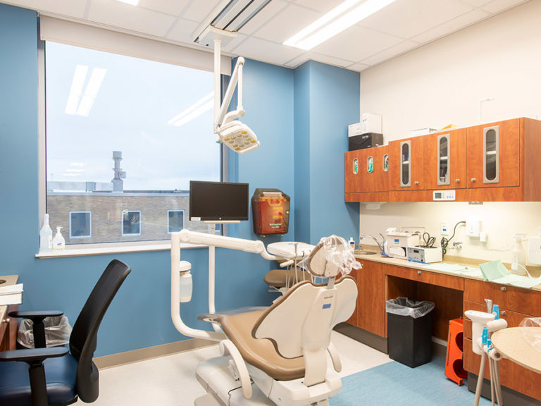 Dentist patient room